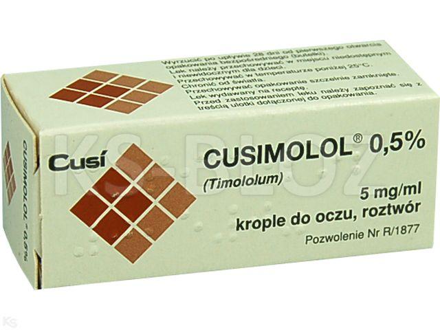 Cusimolol 0,5% interakcje ulotka krople do oczu, roztwór 5 mg/ml 5 ml