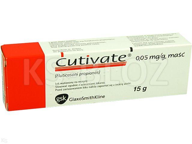 Cutivate interakcje ulotka maść 0,05 mg/g 15 g