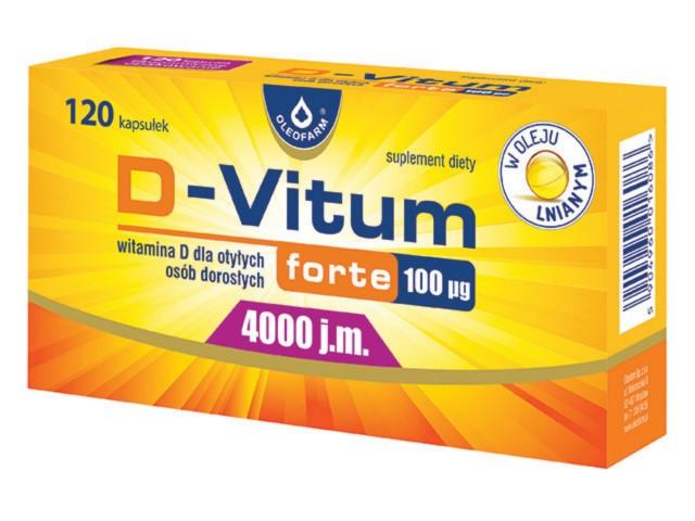 D-Vitum forte 100 interakcje ulotka kapsułki  120 kaps.