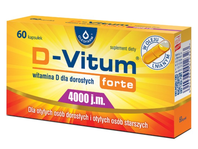 D-Vitum forte 4000 j.m. interakcje ulotka kapsułki  60 kaps.