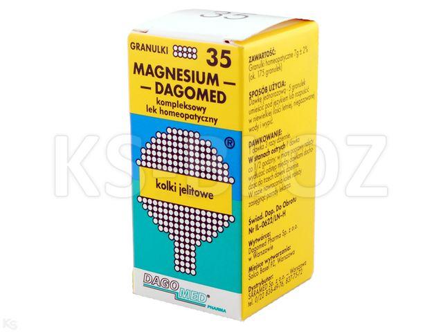 DAGOMED 35 Magnesium -kolki jelit. interakcje ulotka granulki  7 g