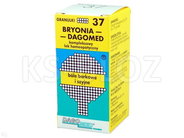 DAGOMED 37 Bryonia -bóle barkowe i szyjne interakcje ulotka granulki  7 g