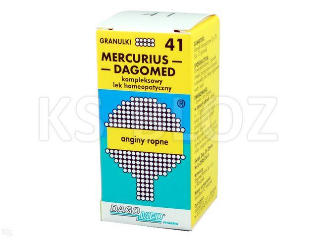 DAGOMED 41 Mercurius -anginy ropne interakcje ulotka granulki  7 g