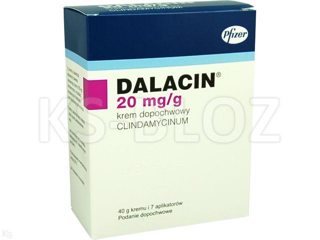 Dalacin interakcje ulotka krem dopochwowy 0,02 g/g 40 g