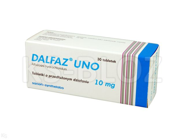 Dalfaz Uno interakcje ulotka tabletki o przedłużonym uwalnianiu 0,01 g 30 tabl.