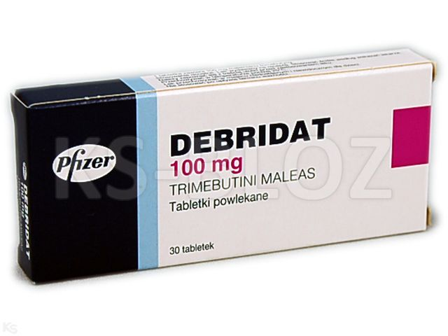 Debridat interakcje ulotka tabletki powlekane 0,1 g 30 tabl.