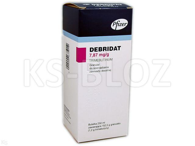 Debridat interakcje ulotka granulat do sporządzania zawiesiny doustnej 7,87 mg/g 250 ml
