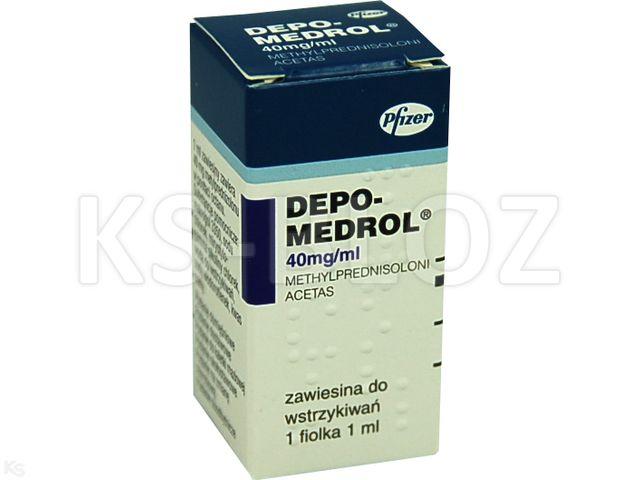 Depo-Medrol interakcje ulotka zawiesina do wstrzykiwań 0,04 g/ml 1 fiol. po 1 ml