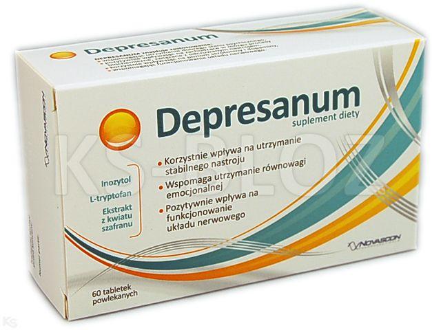 Depresanum interakcje ulotka tabletki powlekane  60 tabl.