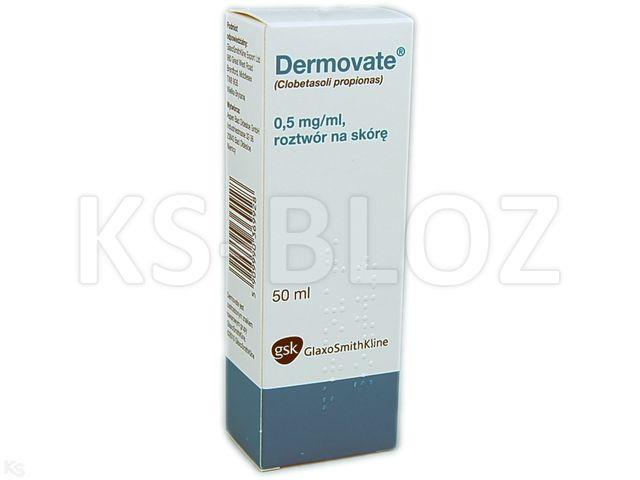Dermovate interakcje ulotka roztwór na skórę 0,5 mg/ml 50 ml