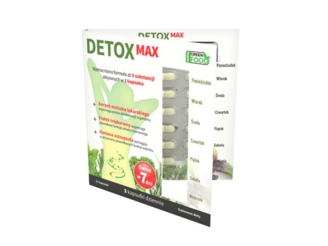 DETOX MAX interakcje ulotka kapsułki  21 kaps.