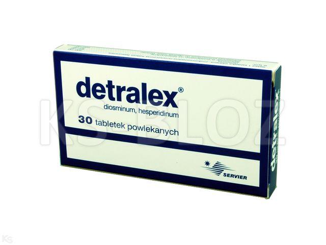 Detralex interakcje ulotka tabletki powlekane 0,45g+0,05g 30 tabl.