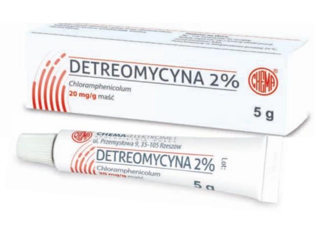 Detreomycyna 2% interakcje ulotka maść 0,02 g/g 5 g