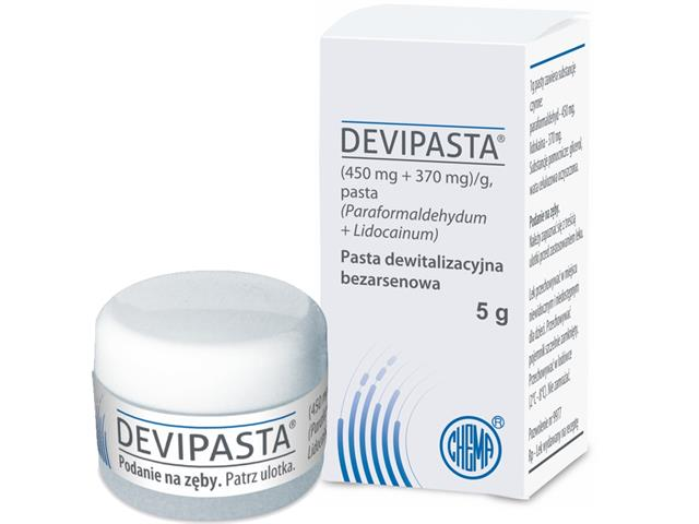 Devipasta interakcje ulotka pasta (0,45g+0,37g)/g 5 g   pudeł.