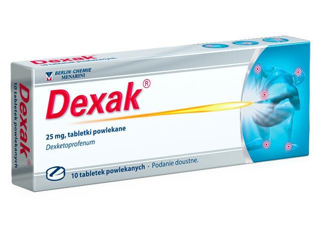 Dexak interakcje ulotka tabletki powlekane 0,025 g 10 tabl.