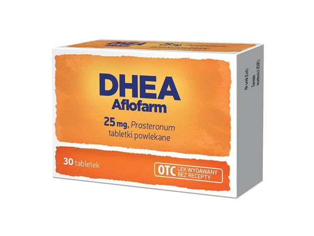 DHEA Eljot interakcje ulotka tabletki powlekane 0,025 g 30 tabl.
