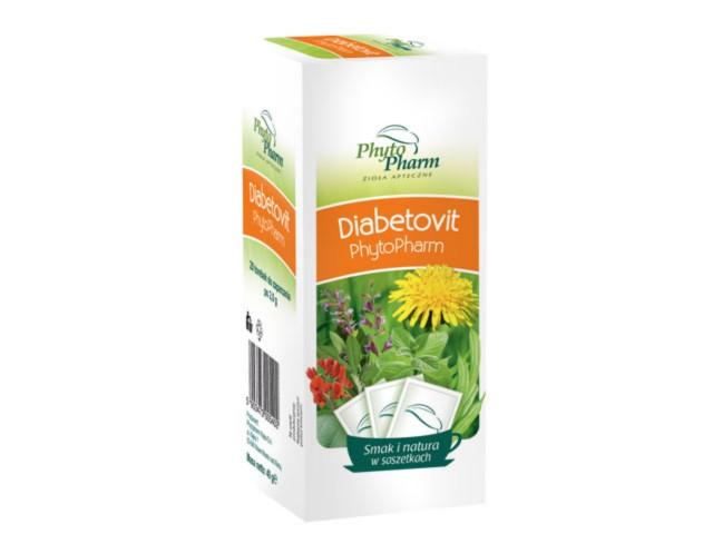 Diabetovit Phytopharm interakcje ulotka zioła do zaparzania w saszetkach 2 g 20 toreb.