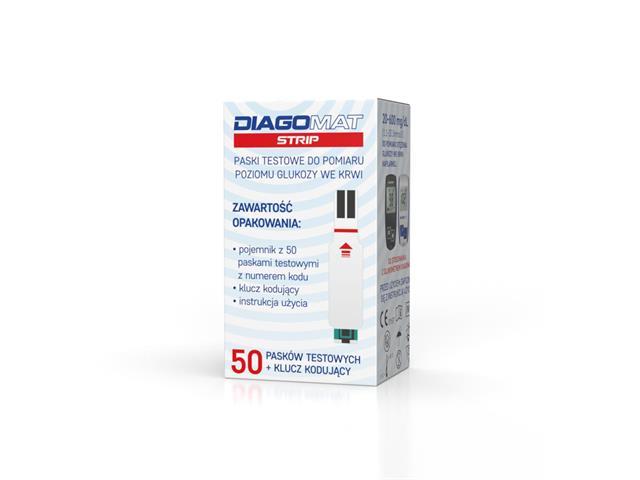 Diagomat Strip interakcje ulotka test paskowy  50 pask.