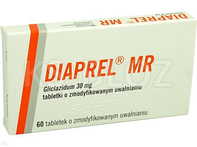Diaprel MR interakcje ulotka tabletki o zmodyfikowanym uwalnianiu 0,03 g 60 tabl.