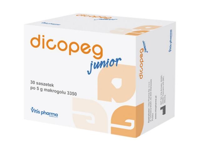 Dicopeg Junior interakcje ulotka proszek do przygotowania zawiesiny doustnej  30 sasz. po 5 g