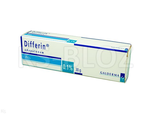 Differin interakcje ulotka żel 1 mg/g 30 g