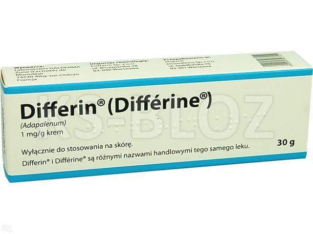 Differin interakcje ulotka krem 1 mg/g 30 g | tuba