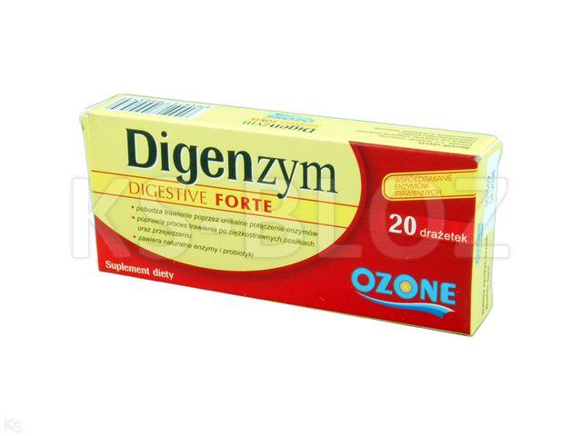 Digenzym Digestive Forte interakcje ulotka drażetki  20 draż.