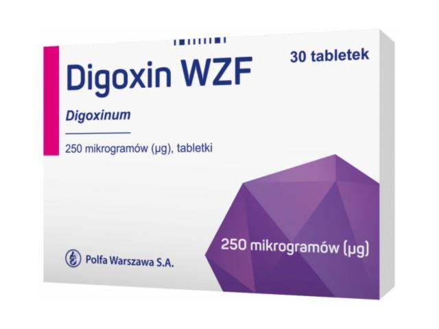 Digoxin WZF interakcje ulotka tabletki 0,25 mg 30 tabl.