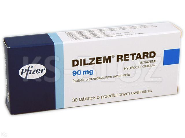 Dilzem retard interakcje ulotka tabletki o przedłużonym uwalnianiu 0,09 g 30 tabl.
