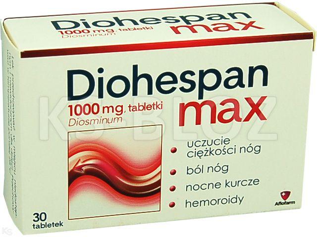 Diohespan Max interakcje ulotka tabletki 1 g 30 tabl.