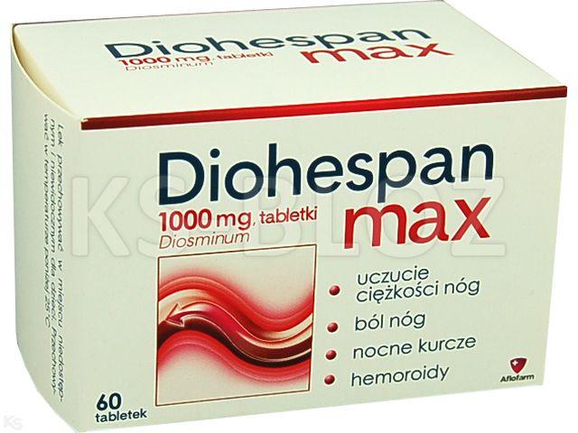 Diohespan Max interakcje ulotka tabletki 1 g 60 tabl.
