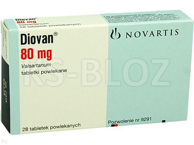 Diovan interakcje ulotka tabletki powlekane 0,08 g 28 tabl.
