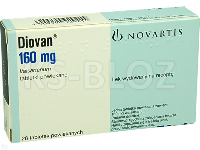 Diovan interakcje ulotka tabletki powlekane 0,16 g 28 tabl.