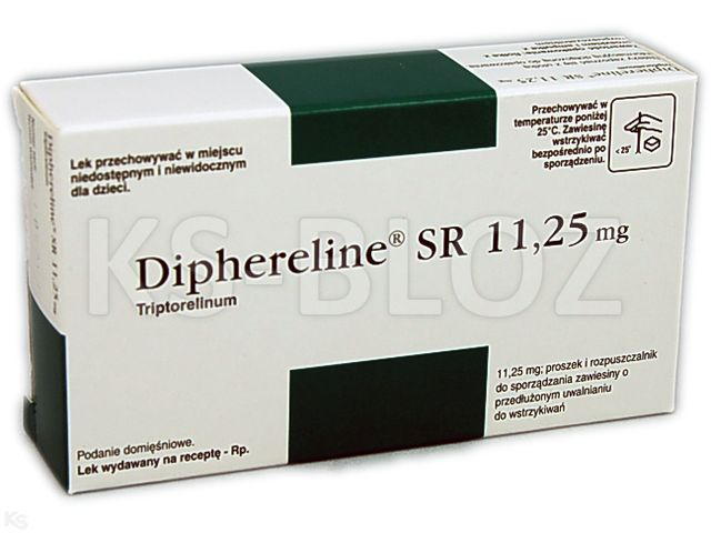 Diphereline SR 11,25 interakcje ulotka proszek i rozpuszczalnik do sporządzania zawiesiny do wstrzykiwań o przedłużonym uwalnianiu 11,25 mg 1 zest.
