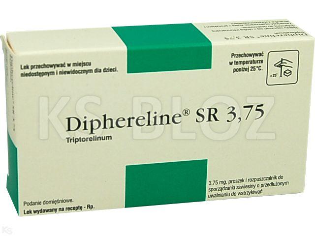 Diphereline SR 3,75 interakcje ulotka proszek i rozpuszczalnik do sporządzania zawiesiny do wstrzykiwań o przedłużonym uwalnianiu 3,75 mg 1 fiol.liof.