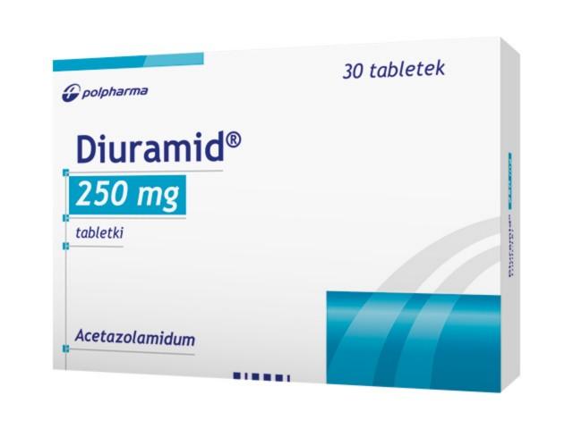 Diuramid interakcje ulotka tabletki 0,25 g 30 tabl.
