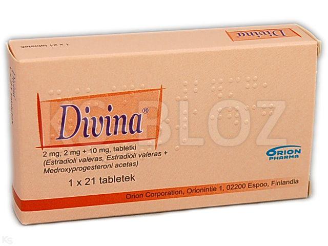 Divina interakcje ulotka tabletki 2 mg (białe)