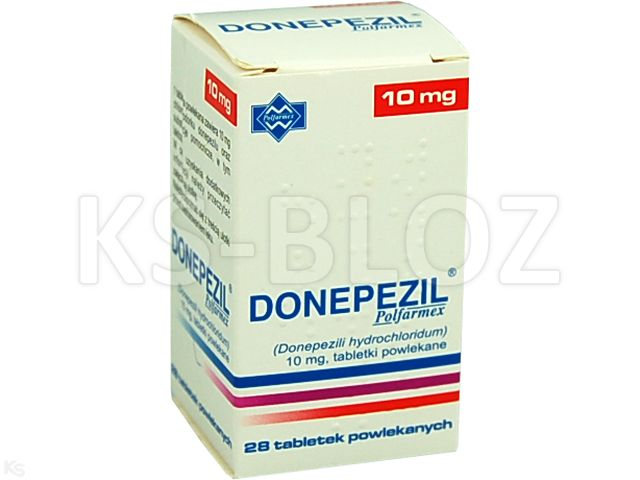 Donepezil Polfarmex interakcje ulotka tabletki powlekane 0,01 g 28 tabl.