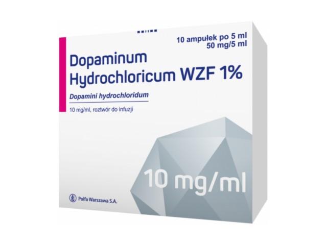 Dopaminum hydrochl. WZF 1% interakcje ulotka roztwór do infuzji 0,01 g/ml 10 amp. po 5 ml