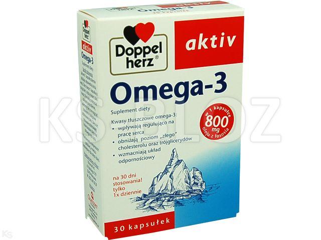 Doppelherz aktiv Omega3 interakcje ulotka kapsułki  30 kaps.