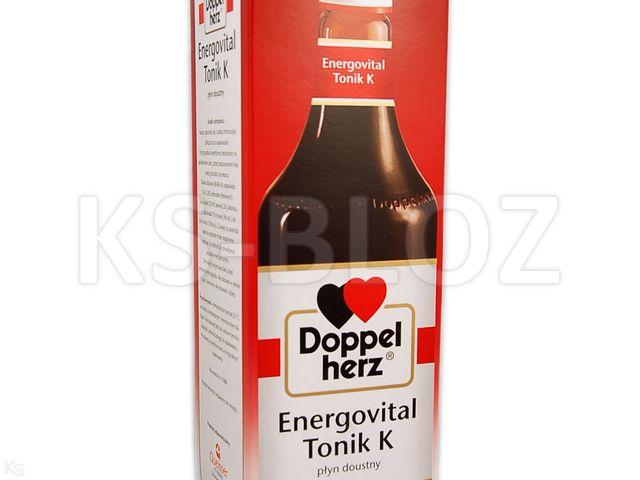 Doppelherz Energovital Tonik K interakcje ulotka płyn doustny  1000 ml