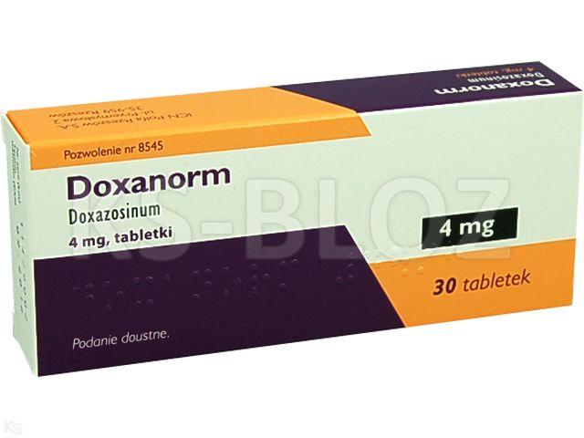 Doxanorm interakcje ulotka tabletki 4 mg 30 tabl.