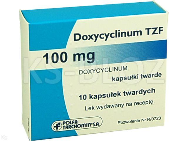 Doxycyclinum TZF interakcje ulotka kapsułki 0,1 g 10 kaps.