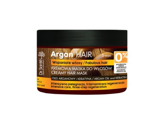 Dr SANTE Argan Hair Maska kremowa, regenerujaca do włosów z olejem arganowym i keratyną interakcje ulotka   300 ml