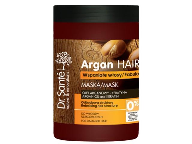 Dr SANTE Argan Hair Maska odbudowująca do włosów z olejem arganowym i keratyną interakcje ulotka   1000 ml