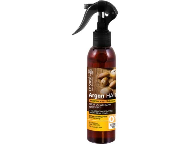 Dr SANTE Argan Hair Spray do włosów ułatwiający rozczesywanie z olejem arganowym i keratyną interakcje ulotka   150 ml
