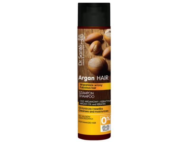 Dr SANTE Argan Hair Szampon z olejem arganowym i keratyna do włosów uszkodzonych interakcje ulotka   250 ml