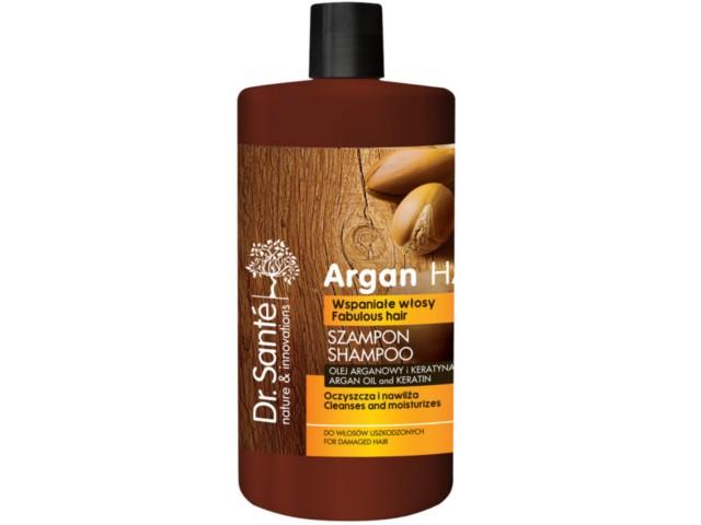 Dr SANTE Argan Hair Szampon z olejem arganowym i keratyna do włosów uszkodzonych interakcje ulotka   1000 ml