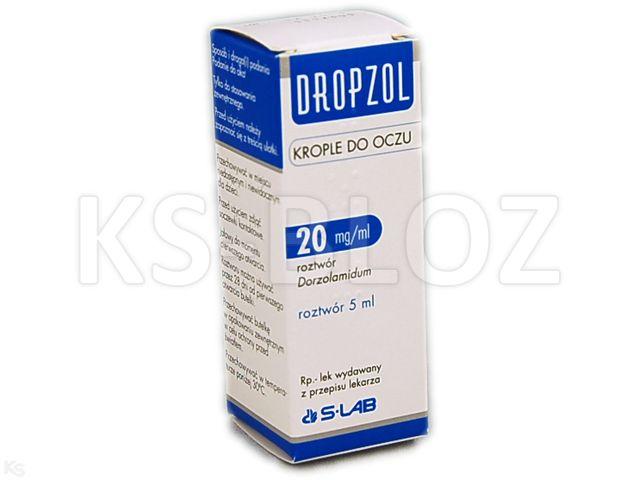 Dropzol interakcje ulotka krople do oczu, roztwór 0,02 g/ml 5 ml