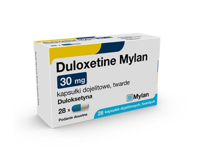 Duloxetine Mylan interakcje ulotka kapsułki dojelitowe twarde 0,03 g 28 kaps.